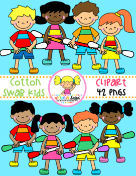 Kids with Cotton Swabs