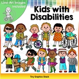 Kids with Disabilities Clip Art
