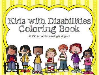 Kids with Disabilities Coloring Book