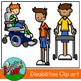 Kids with Disabilities Clipart / Graphic - 300dpi Color Gr