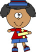 Kids with Division Sign Clip Art