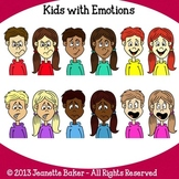 Kids with Emotions Clip Art by Jeanette Baker
