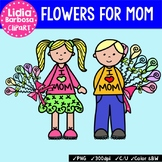 Kids with Flowers for Mom {Clip Art for Teachers}