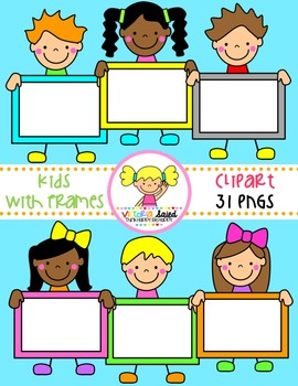 Kids with Frames Clipart