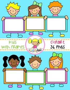Kids with Frames Clipart {Set 2}