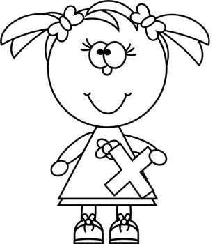 Kids with Multiplication Sign Clip Art