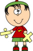 Kids with Multiplication and Division Signs Clip Art