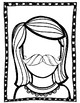 Kids with Mustache Writing Activity