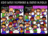 Kids with Number Signs Bundle {Creative Clips Digital Clipart}
