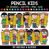 Pencil Kids Clipart