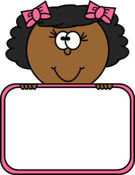 Kid's Heads with Signs Clip Art