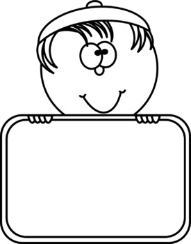 Kids with Signs Clip Art