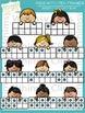 Kids with Ten Frames Clip Art