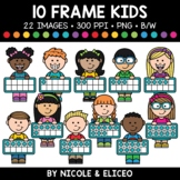 Ten Frame Kids Clipart