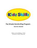 Kidz Skillz: The Simple Handwriting Program - Teacher's Booklet