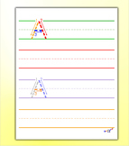 Alphabet Tracing - Letter A Worksheets by Kidznote®