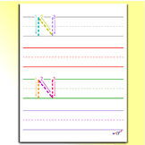 Tracing Letters - Letter N Worksheets