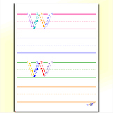 Printable Alphabet Letters - Letter W Worksheets