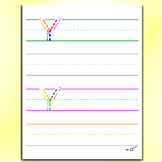 Alphabet Tracing Worksheets - Letter Y Worksheets