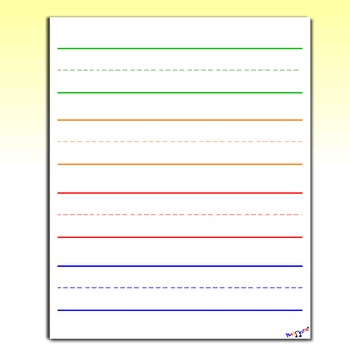 Lined Paper by Kidznote | Teachers Pay Teachers