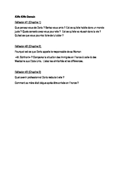 Kiffe Kiffe Demain Chapitres 1-3 Reflection Questions