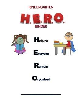 Kindergarten Binder Cover