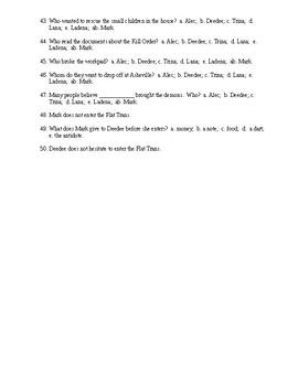 Kill Order reading check test/quiz