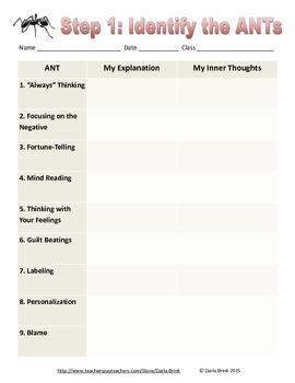 Kill the ANTs Strategy Activities