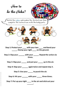 Let's play rugby - ESL-EFL worksheets