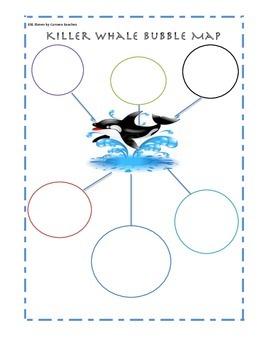 Killer Whale Bubble Map for ELLs