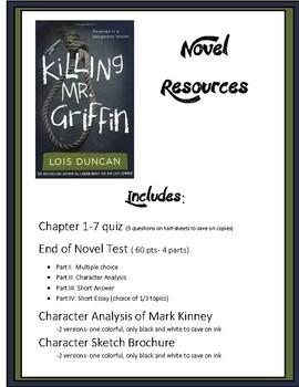 Killing Mr. Griffin Novel Resources