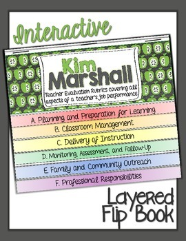 KIM MARSHALL TEACHER EVALUATION FLIP BOOK: DOMAINS AND RUBRICS