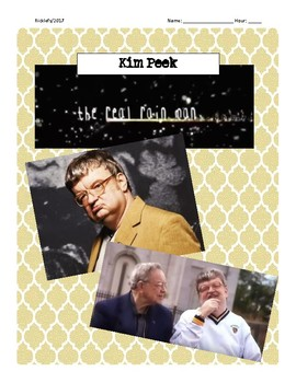 Kim Peek The Real Rainman Video; Intellectual Disability; Psych Intelligence
