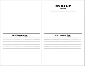Kim and Slim Retelling Book