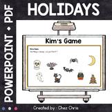 Kim's Game - Holidays : Halloween, Thanksgiving, Christmas