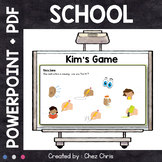 Kim's Game - School : supplies , subjects, instructions an