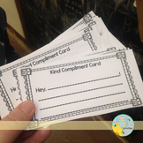 Free! Kind Compliment Card - Friendship Tool #kindnessnation #weholdthesetruths