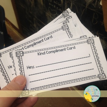 Free! Kind Compliment Card - Friendship Tool for Classrooms