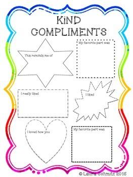 Kind Compliment Sheet