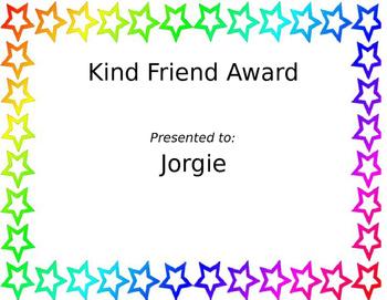 Kind Friend Award