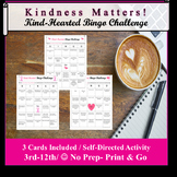 Valentine's Day Kindness Bingo- 3 Bingo cards included