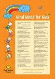 FREE Kindness Ideas Poster - Printable Student Resource -