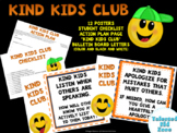 Kind Kids Club Posters, Goal Tracking, Action Plan