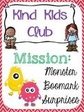 Kind Kids Club - Mission Monster Bookmark Surprises