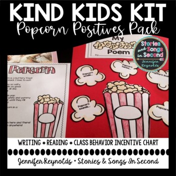 Kind Kids Kit-Popcorn Positives Literacy and Incentive Activities