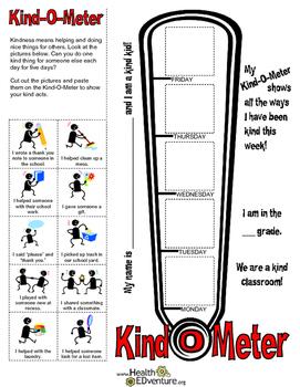 Character Education: Kind-0-Meter