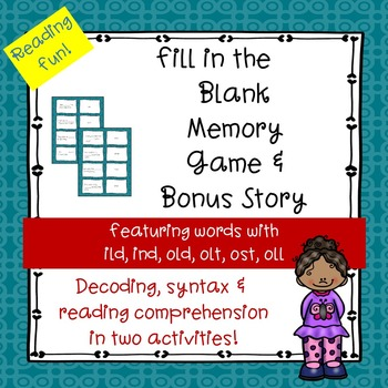 Kind Old Ghost Words Fill-in-the-Blank Memory Game