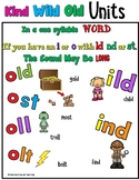 Kind Old Wild Units Orton Gillingham Spelling (Closed Syllable Exceptions)