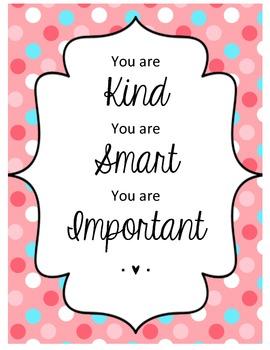 Kind, Smart, Important