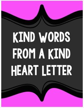 Kind Words Letter